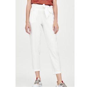 ZARA | paperbag waist trousers
